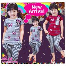 Jual Little Pineapple Setelan Kaos Celana Balon Strippy 3 7Y Little Pineapple Grosir