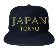 Live & Prosper Topi Snapback Tokyo Japan - Hitam
