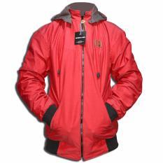 LMG Jaket/Sweater Bolak Balik Polos Urgan - Merah