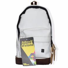 LMG Tas Ransel, BackPacks Mini Islan Of Stone - Putih