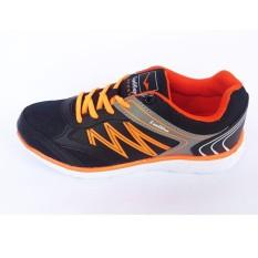 Jual Loggo Healty Ladies 401 Sepatu Olahraga Sepatu Lari Warna Hitam Orange Termurah