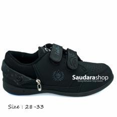 Toko Loggo Sepatu Sekolah Anak Velcro 28 33 Sepatu Sekolah Anak Hitam Termurah Di Indonesia