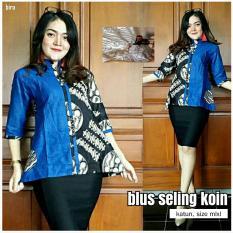lohoo store, blus batik kantoran, baju batik, blus batik wanita, batik cantik dan murah