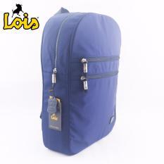 Harga Lois Tas Ransel Waterproof Backpack Bodypack Pria Wanita Sekolah Kuliah Kerja Laptop Navy Online