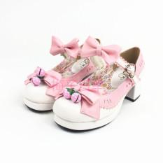 Katalog L*L*T* Strawberry Lonceng Sepatu Sepatu Wanita Putih Sepatu Wanita Flat Shoes Terbaru