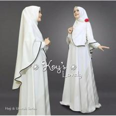 Lolypolyy Dress Muslimah Gamis Syari Lovely - Putih