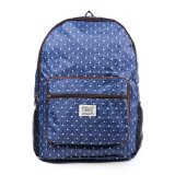 Beli London Berry By Huer Rene Packable Backpack Large Polkadot Denim Blue London Berrry By Huer Dengan Harga Terjangkau