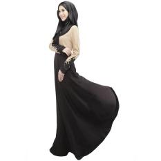 Gaun Panjang Malaysia Abayas Dubai ItemTurkish Ladies Pakaian Wanita Muslim Gaun Muslim Islam Gaun untuk Wanita-Intl
