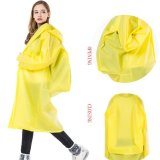 Review Tentang Long Raincoat Eva Tebal Universal Ponco Tahan Air Hiking Tour Hooded Rain Coat With Schoolbag Posisi Kuning