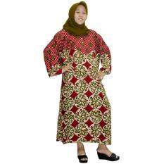 Longdres Jumbo Batik, Daster Lengan Panjang Jumbo, Baju Tidur, Piyama, Kancing, Daster Bumil, Busui (LPT003-28) Batikalhadi Online