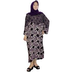 Longdres Jumbo Batik, Daster Lengan Panjang Jumbo, Baju Tidur, Piyama, Kancing, Daster Bumil, Busui (LPT003-28) Batik Alhadi