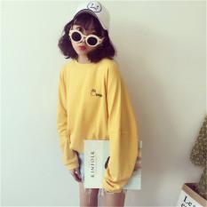 Beli Longgar Baru Siswa Lengan Panjang Kemeja Kecil Kuning Baju Wanita Baju Atasan Kemeja Wanita Online