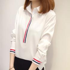Kemeja Putih Baru SMA Atasan Korea Fashion Style Warna Solid
