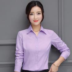 Harga Longgar Bawahan V Neck Ol Kemeja Katun Merah Muda Kemeja M21 Warna Solid Ungu Motif Polos Soft V Neck A—¢ Lengan Panjang A—£ Baju Wanita Baju Atasan Kemeja Wanita Blouse Wanita Online Tiongkok