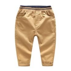 Celana Cargo Korea Modis Gaya Katun Celana Kain Linen (Khaki)