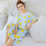 Spesifikasi Longgar Imut Katun Perempuan Lengan Pendek Korea Fashion Style Baju Tidur Gaun Tidur 708 Hari Biru Merk Oem