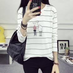 Longgar Kartun Perempuan Kasual Lengan Panjang Gaun Baju Dalaman T-shirt (173 * Foto Warna) baju wanita baju atasan kemeja wanita