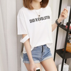 Spesifikasi Kaos Wanita Versi Hongkong Model Sobek Lengan Pendek 161 Putih Paling Bagus
