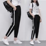 Longgar Kasual Siswa Bagian Tipis Celana Panjang Celana Olah Raga Batang Tunggal Lurus Diskon Tiongkok