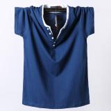 Toko Longgar Katun Warna Solid Pria Lengan Pendek Musim Panas T Shirt Biru Baju Atasan Kaos Pria Kemeja Pria Other Online