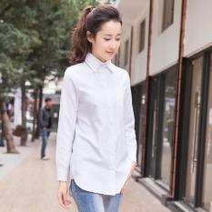 Longgar Korea Modis Gaya Bagian Putih Panjang Baju Dalaman Wanita Hamil Kemeja (Putih (Lengan Panjang))