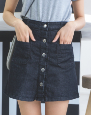 Diskon Longgar Korea Fashion Style Baru Siswa Perempuan Rok Celana Jeans Hitam Baju Wanita Rok Akhir Tahun