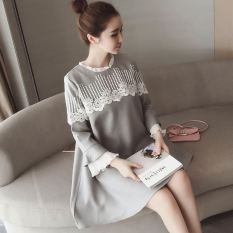 Dress Renda Longgar Wanita Gaya Korea