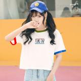 Harga Longgar Korea Fashion Style Bordir Perempuan Baru T Shirt Lengan Pendek Atasan Putih Baju Wanita Baju Atasan Kemeja Wanita Murah
