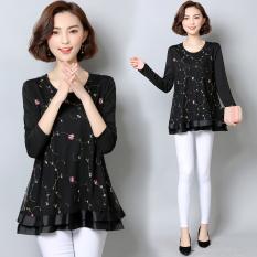 Kemeja Sifon Korea Fashion Style Tambah Beludru Musim Gugur Dan Musim Dingin Baru Baju Dalaman (Foto Warna (bagian tipis))