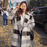 Jaket Parka Korea Fashion Style Wol Hitam Dan Putih Musim Gugur Dan Musim Dingin Hitam Dan Putih Jaringan Baju Wanita Jaket Wanita Oem Murah Di Tiongkok