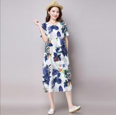 Harga Longgar Korea Fashion Style Kain Linen Jas Angin Gaun Rok Setengah Panjang Biru Baju Wanita Dress Wanita Gaun Wanita Dan Spesifikasinya