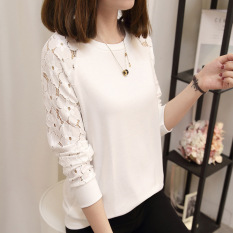 Review Toko Longgar Korea Fashion Style Katun Perempuan Musim Gugur Atasan Putih Online