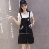 Dimana Beli Longgar Korea Fashion Style Koboi Wanita Musim Panas Baru Pendek Rok Overall Hitam Baju Wanita Dress Wanita Gaun Wanita Oem