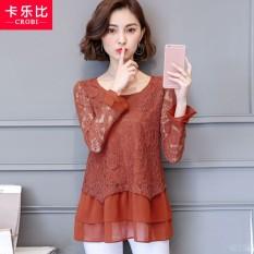 RESTONIC Baju Dalaman Wanita Lengan Panjang Musim Gugur 2018 Model Baru Versi Korea Netral Longgar Menutupi