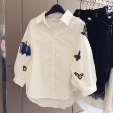 Kemeja Putih Korea Fashion Style Baru Kemeja Korea Lengan Panjang