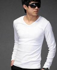 Longgar Korea Modis Gaya Membeli Satu Tanah Baju Musim Gugur (Warna Polos Lengan Panjang Putih Satu Potong)