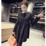 Jual Longgar Korea Fashion Style Musim Gugur Baru Lengan Panjang Gaun Hitam Other Original
