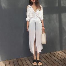 Longgar Korea Fashion Style Musim Semi Dan Musim Gugur Baru Kemeja Putih Baju Pelindung Matahari (Gambar Warna)