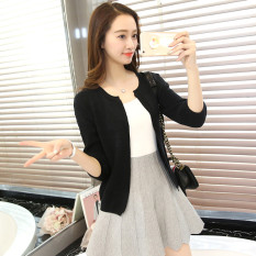 Jual Longgar Korea Fashion Style Musim Semi Dan Musim Panas Baru Sweter Hitam Murah Tiongkok