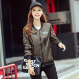 Harga Longgar Korea Fashion Style Perempuan Baru Jaket Bomber Mantel Hijau Tentara Warna Fullset Murah