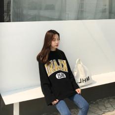 Longgar Korea Fashion Style Perempuan Lengan Panjang Musim Gugur Atasan T-shirt (011 Hitam) baju wanita baju atasan kemeja wanita