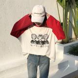 Diskon Longgar Korea Fashion Style Perempuan Musim Gugur Baru Atasan T Shirt Merah Muda Warna Branded