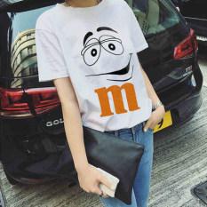 Toko Longgar Korea Fashion Style Perempuan Musim Panas Baru Baju Dalaman T Shirt 5181 Putih Online Terpercaya
