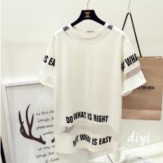 Beli Longgar Korea Fashion Style Perempuan Setengah Panjang Model Terlihat Langsing Baju Dalaman T Shirt Putih Pake Kartu Kredit