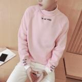 Harga Longgar Korea Fashion Style Pria Siswa Muda Sweater Merah Muda Baju Atasan Sweter Pria Baru Murah