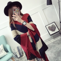 Spesifikasi Longgar Korea Fashion Style Rumbai Mantel Selendang Kemeja Rajut Pullover Sweter Arak Anggur Warna Yang Bagus Dan Murah
