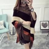 Diskon Longgar Korea Fashion Style Rumbai Mantel Selendang Kemeja Rajut Pullover Sweter Kopi Warna