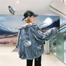 Longgar Korea Fashion Style Siswa Perempuan Angin Bagian Tipis Jaket Angin Jeket Jeans Light Blue Promo Beli 1 Gratis 1
