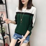 Katalog Longgar Korea Lengan Panjang Wanita Smp Baju Dalaman Kaos Hijau Baju Wanita Baju Atasan Kemeja Wanita Oem Terbaru