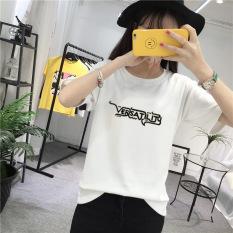 Harga Longgar Lengan Pendek T Shirt Baju Dalaman Putih Baju Wanita Baju Atasan Kemeja Wanita Murah